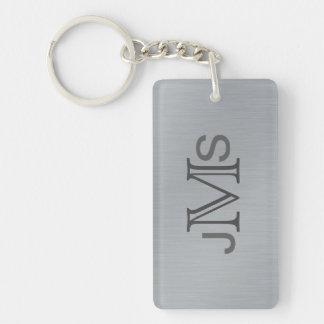 Porte-clés Les initiales décorées d'un monogramme modernes  