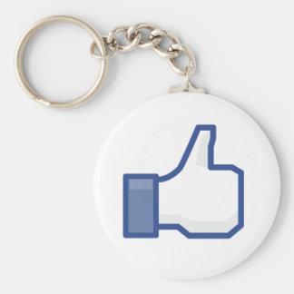 Porte-clés les pouces de facebook AIMENT le porte - clé