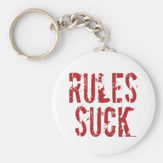 Porte-clés Les règles sucent - l'anarchiste d'autorité de