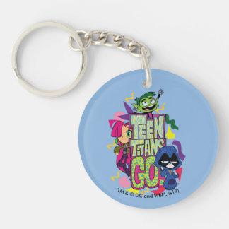 Porte-clés Les titans de l'adolescence vont ! logo de poster