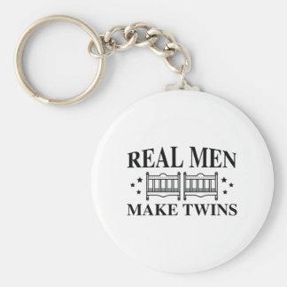 Porte-clés Les vrais hommes font des jumeaux
