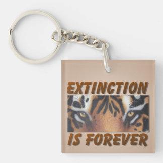 Porte-clés L'extinction est pour toujours tigre