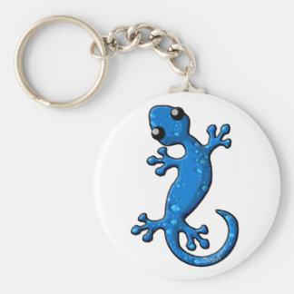 Porte-clés Lézard bleu de Gecko de pluie