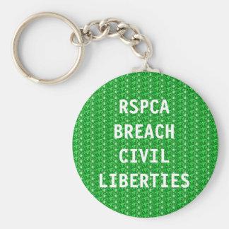 Porte-clés Libertés civiles d'infraction du porte - clé RSPCA
