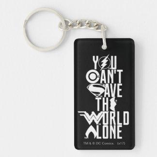 Porte-clés Ligue de justice | vous ne pouvez pas sauver seul