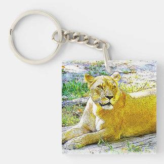 Porte-clés Lion femelle