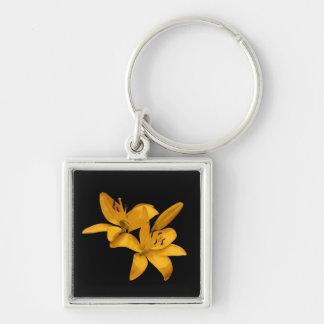 Porte-clés Lis d'or