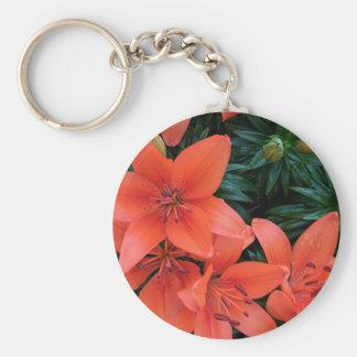 Porte-clés Lis orange