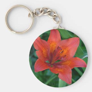 Porte-clés Lis tigré orange