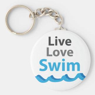 Porte-clés Live_Love_Swim