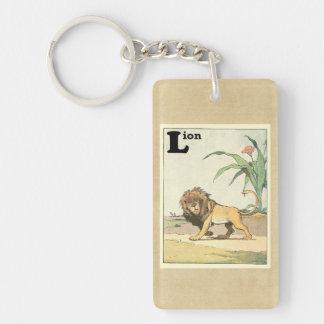 Porte-clés Livre de vagabondage d'histoire de lion