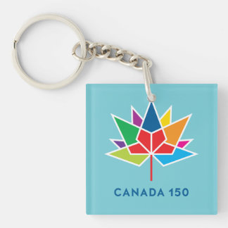 Porte-clés Logo de fonctionnaire du Canada 150 - multicolore