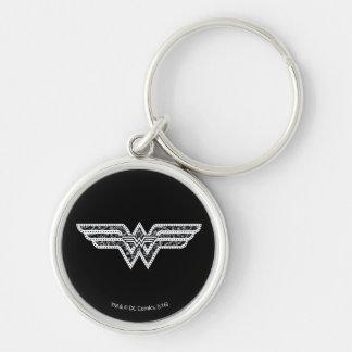 Porte-clés Logo de Paisley de femme de merveille