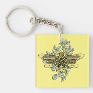 Porte-clés Logo de reine des abeilles de femme de merveille
