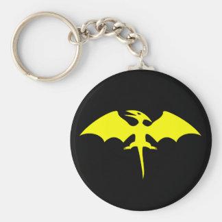 Porte-clés Logo de super héros de dinosaure de ptérodactyle