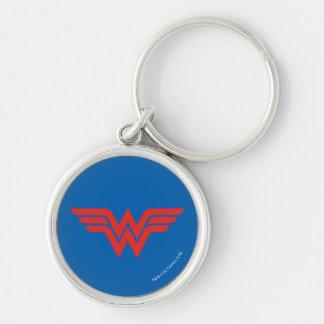 Porte-clés Logo rouge de femme de merveille