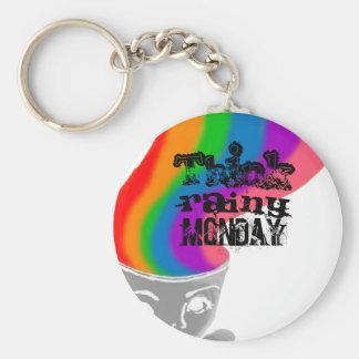 Porte-clés Lundi pluvieux pense le porte - clé heureux de
