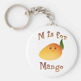 Porte-clés M est pour la mangue