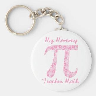 Porte-clés Ma maman enseigne à des maths les bulles roses