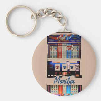Porte-clés Machine à sous personnalisée de style de Vegas