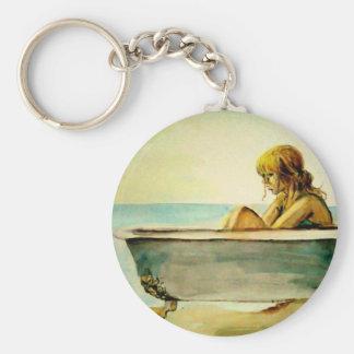 Porte-clés Madame dans un porte - clé de baignoire