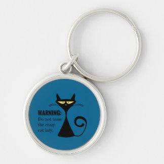 Porte-clés Madame folle de chat