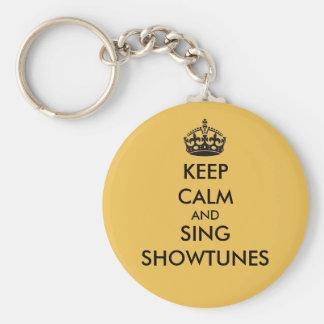 Porte-clés Maintenez calme et chantez Showtunes