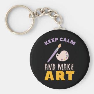 Porte-clés Maintenez calme et faites l'artiste d'image de