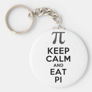 Porte-clés Maintenez calme et mangez l'humour de maths