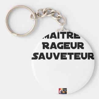Porte-clés Maître Rageur Sauveteur - Jeux de Mots