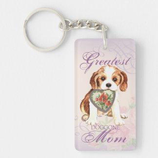 Porte-clés Maman cavalière de coeur