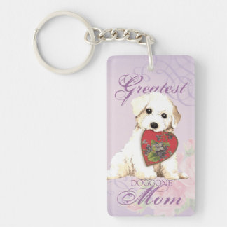 Porte-clés Maman de coeur de Bichon