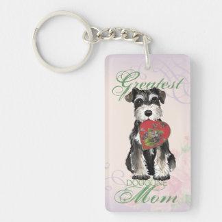 Porte-clés Maman de coeur de Schnauzer miniature