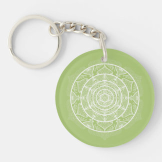 Porte-clés Mandala de lichen
