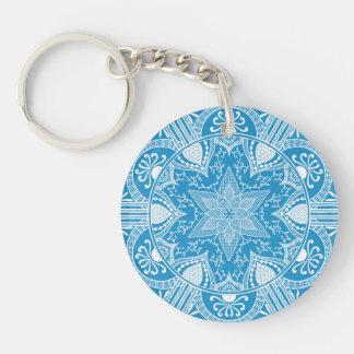 Porte-clés Mandala d'oiseau bleu
