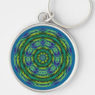 Porte-clés Mandala vert