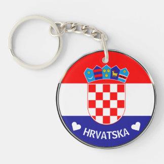 Porte-clés Manteau croate du grb w/Text des bras   Hrvatski