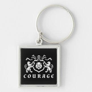 Porte-clés Manteau de courage des bras blanc
