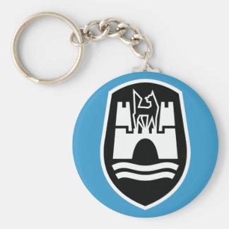 Porte-clés Manteau de Wolfsbourg des bras (blanc noir)