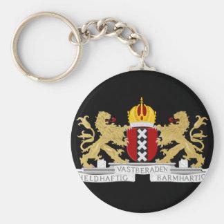 Porte-clés Manteau des bras d'Amsterdam