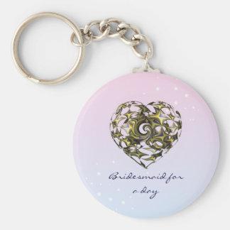Porte-clés Mariage enlacé de coeur d'amour