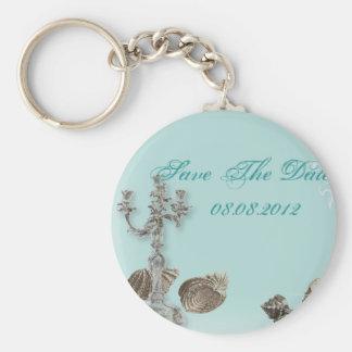 Porte-clés mariage nautique vintage de coquillage de plage