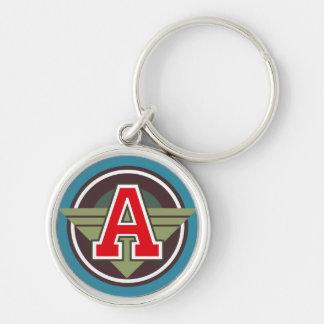 """Porte-clés Marquez avec des lettres l'initiale de """"A"""""""