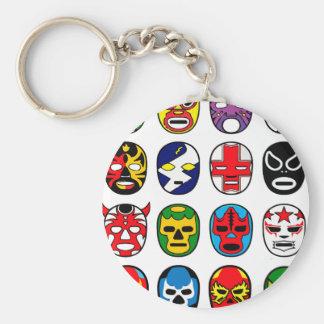 Porte-clés Masques de lutte mexicains de Lucha Libre Luchador