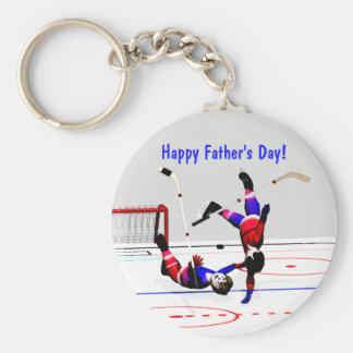 Porte-clés Match de hockey de fête des pères