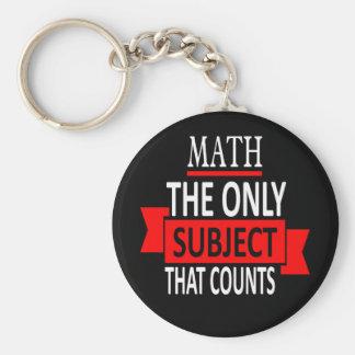 Porte-clés Maths. Le seul sujet qui compte. Plaisanterie de