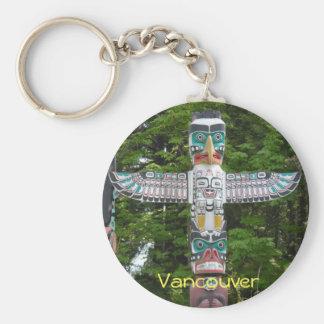 Porte-clés Mâts totémiques - parc de Stanley, Vancouver