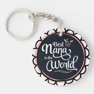 Porte-clés Meilleure Nana dans le porte - clé du monde