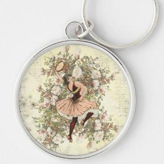 Porte-clés Mélange floral gitan et match de danse vintage