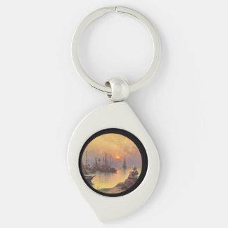 Porte-clés Mère et fille sur le rivage